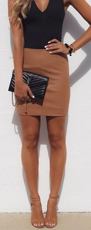 Bodysuit and pencil skirt outfit