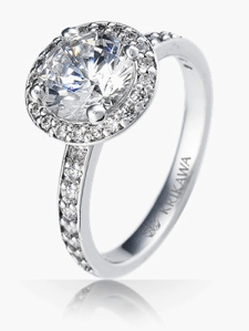 Platinum and white diamond wedding ring