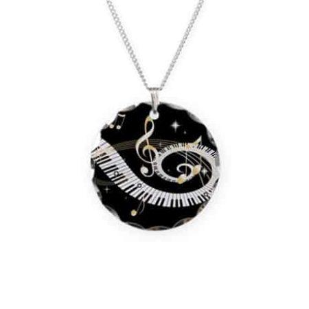 Pendant with piano keys design