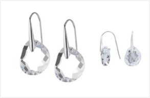 Swarovski Galet Rhodium-plated Pierced Earrings