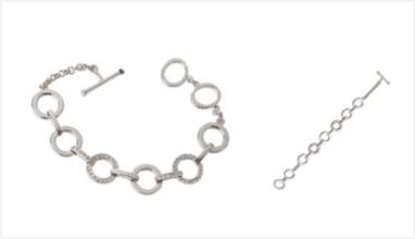 Swarovski Circle Crystal Silver Rhodium-Plated Bracelet