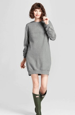 Grey sweatshirt dress by Hunter for Target
