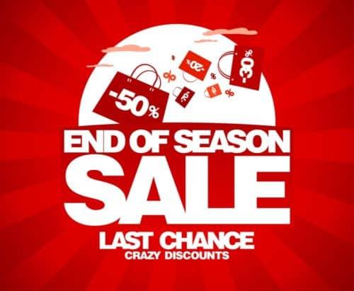 End of season sale ad