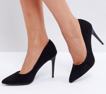 Simple black pumps from ASOS