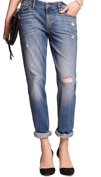 Distressed jeans from Banana Republic