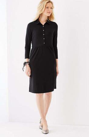 Simple black shirt dress
