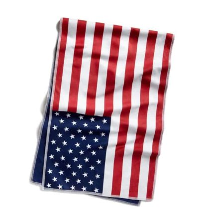 Red white and blue microfiber cooling towel