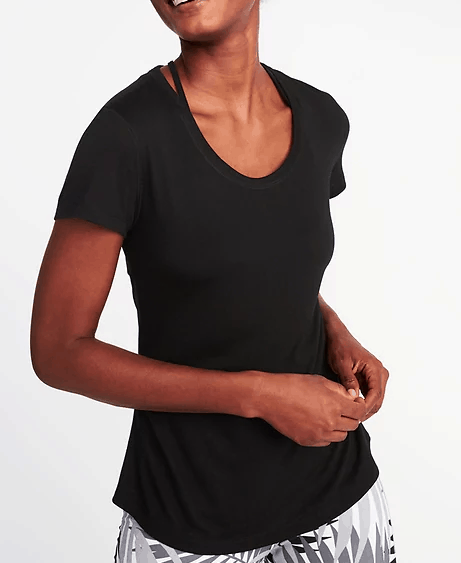 Old Navy Black t shirt with cutout