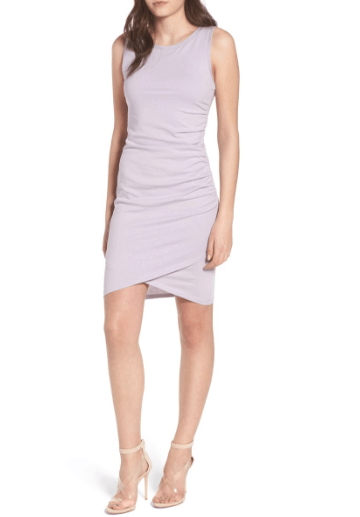 Ruched tank style dress