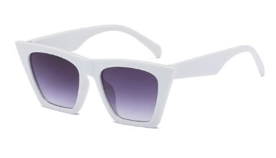 retro white cateye sunglasses