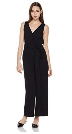 Sleeveless black jumpsuit