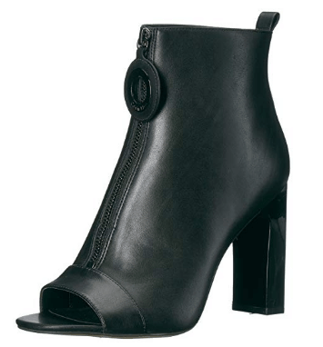Open-toe ankle boot