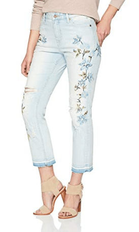 Embroidered skinny jeans