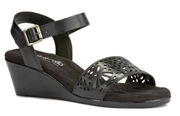 Black wedges with low heel