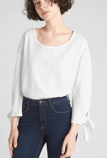 Gap tie-sleeve white tee