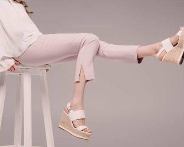 Woman wearing pink cropped pants