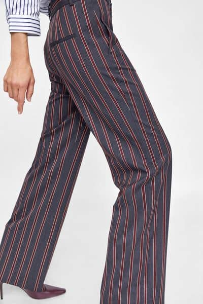 Striped pants from Zara