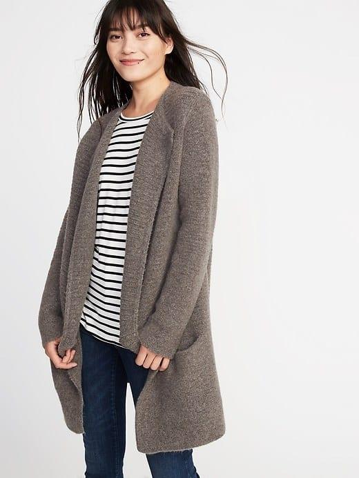 Brown cardigan coat