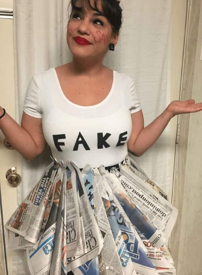 Fake news Halloween costumes