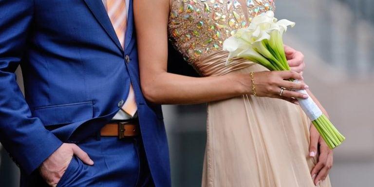 Couple in formal wear
