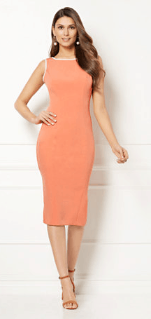 Peach sheath dress