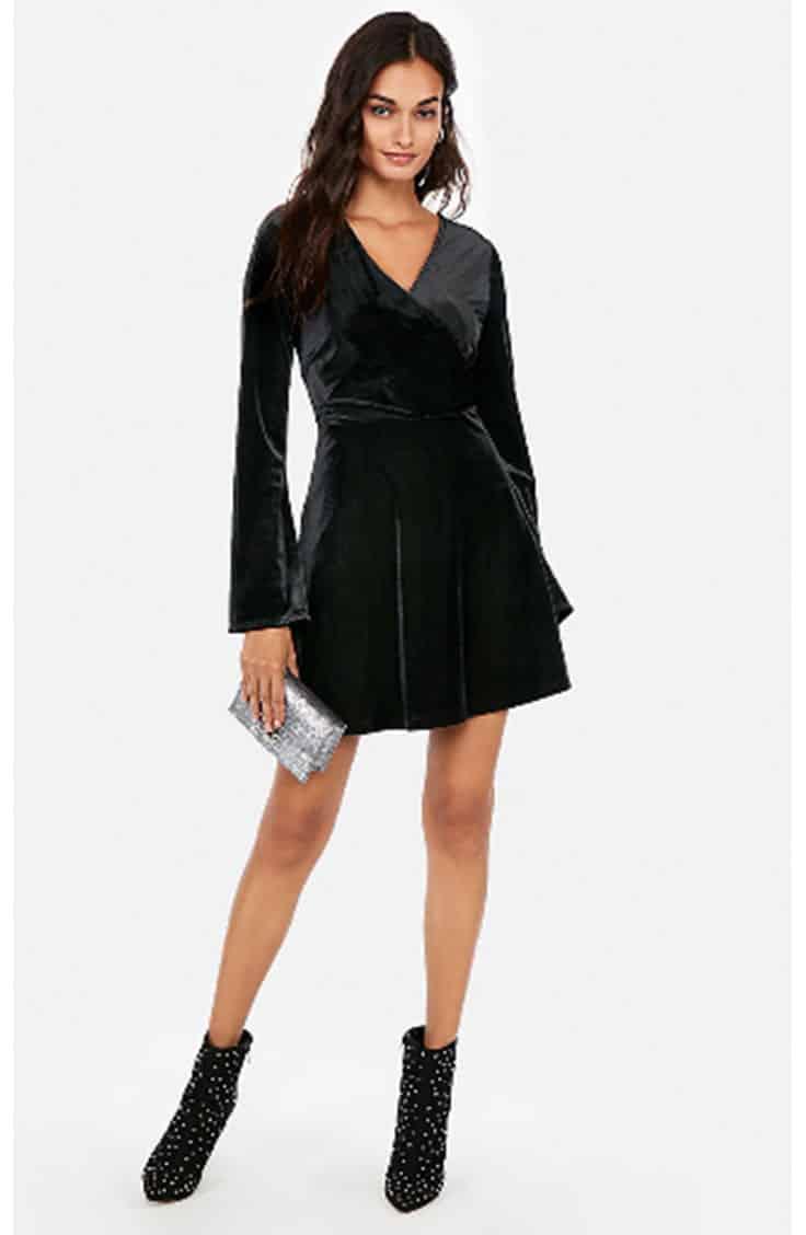 Velvet dress from express, on sale for Black Friday