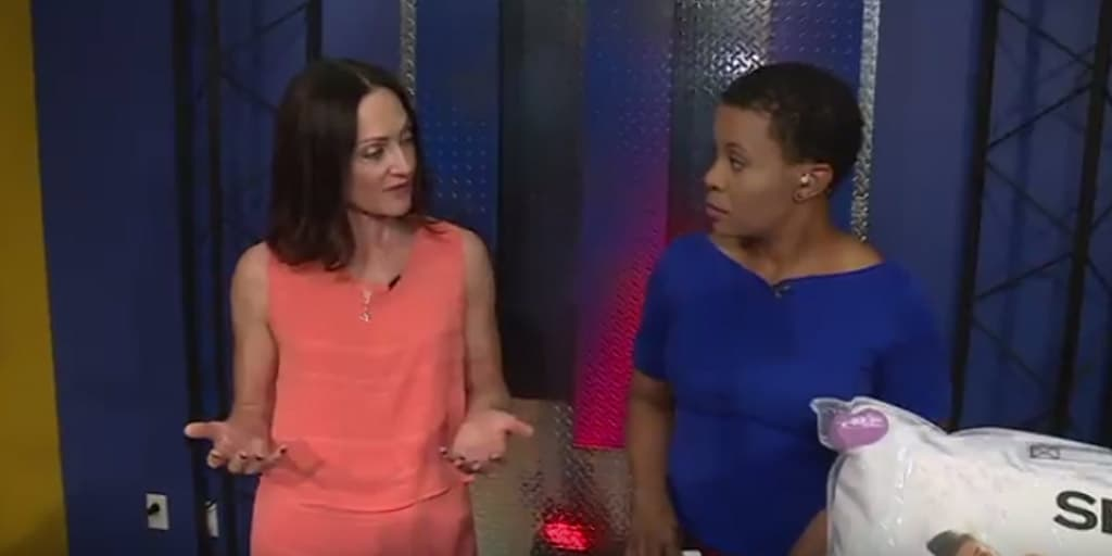 Catherine Brock The Budget Fashionista appears on Fox2 St. Louis