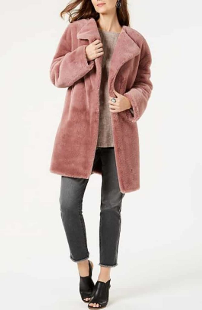 Mauve teddy coat