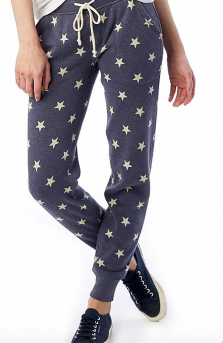 Sweatpants with stars from Alternative Apparel, on sale for Black Friday