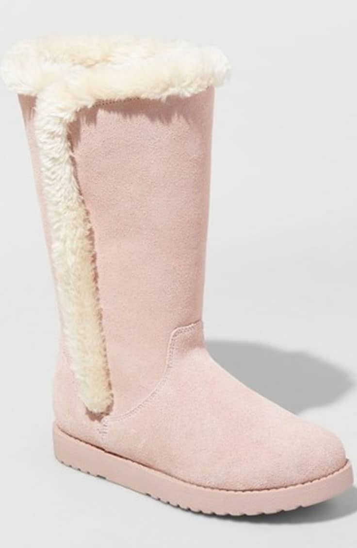 Target faux suede boots