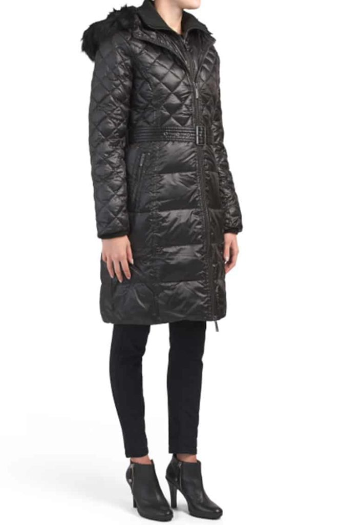 Black, long puffer coat from TJMaxx