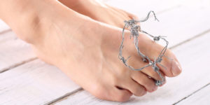 Feet with barbed wire