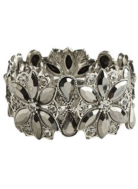 Vintage floral stretch bracelet