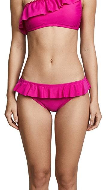 Magenta ruffle bikini