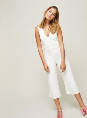 Ivory jumpsuit for petites