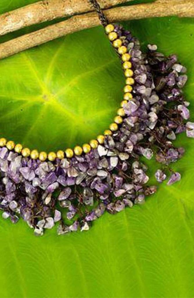 Novica amethyst statement necklace