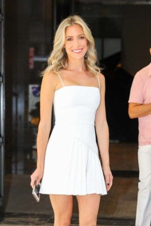 Kristin Cavallari wearing white mini dress