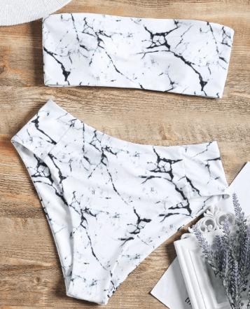 Marble bikini set
