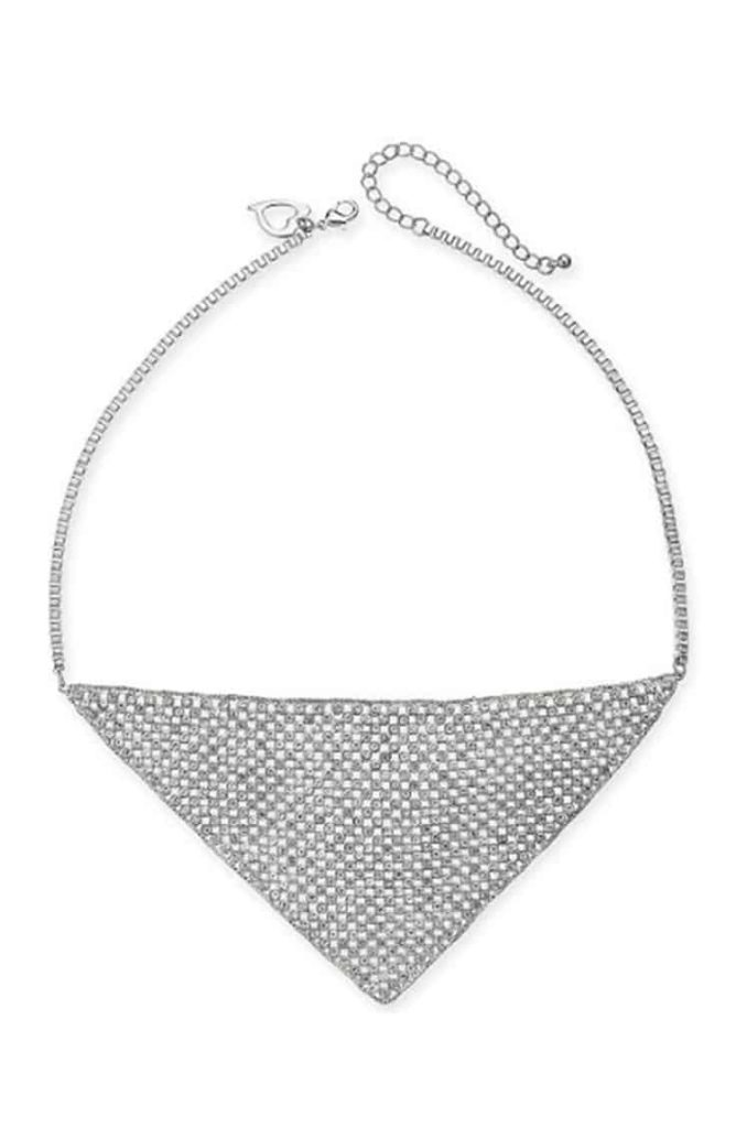 Mesh triangle statement necklace