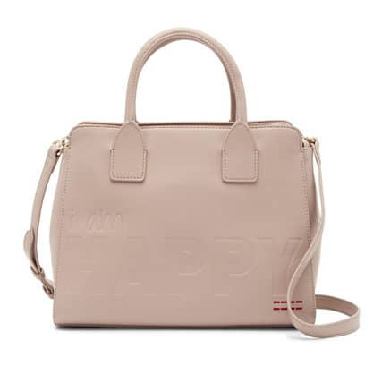 Rose satchel and cross body bag