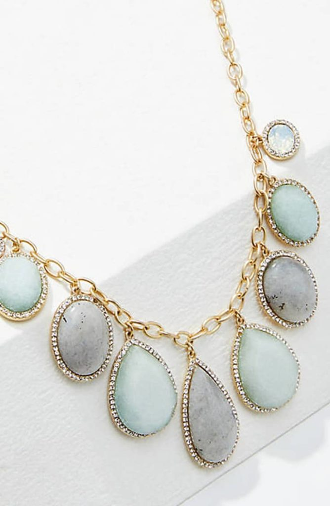Pave stone statement necklace