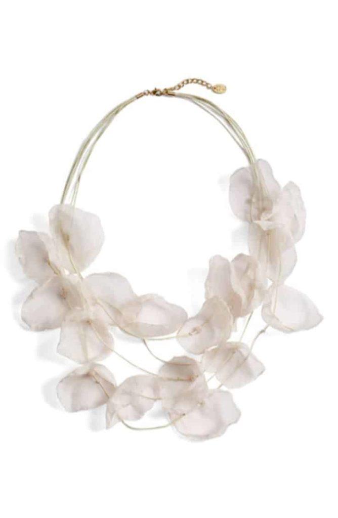 Chiffon statement necklace