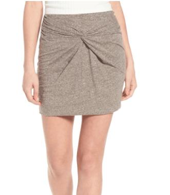 Nordstrom knot-front skirt