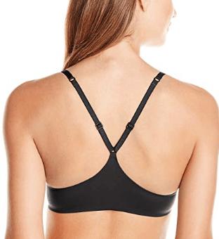Black racerback bra