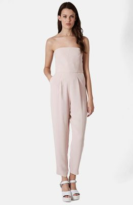 TopShop Tailored Strapless Jumpsuit
