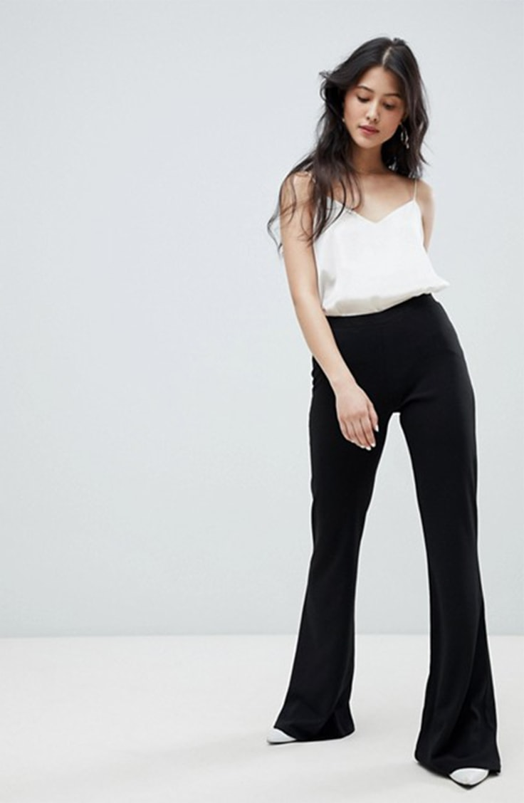 Black flared pants from ASOS