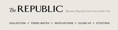 Banana Republic blog