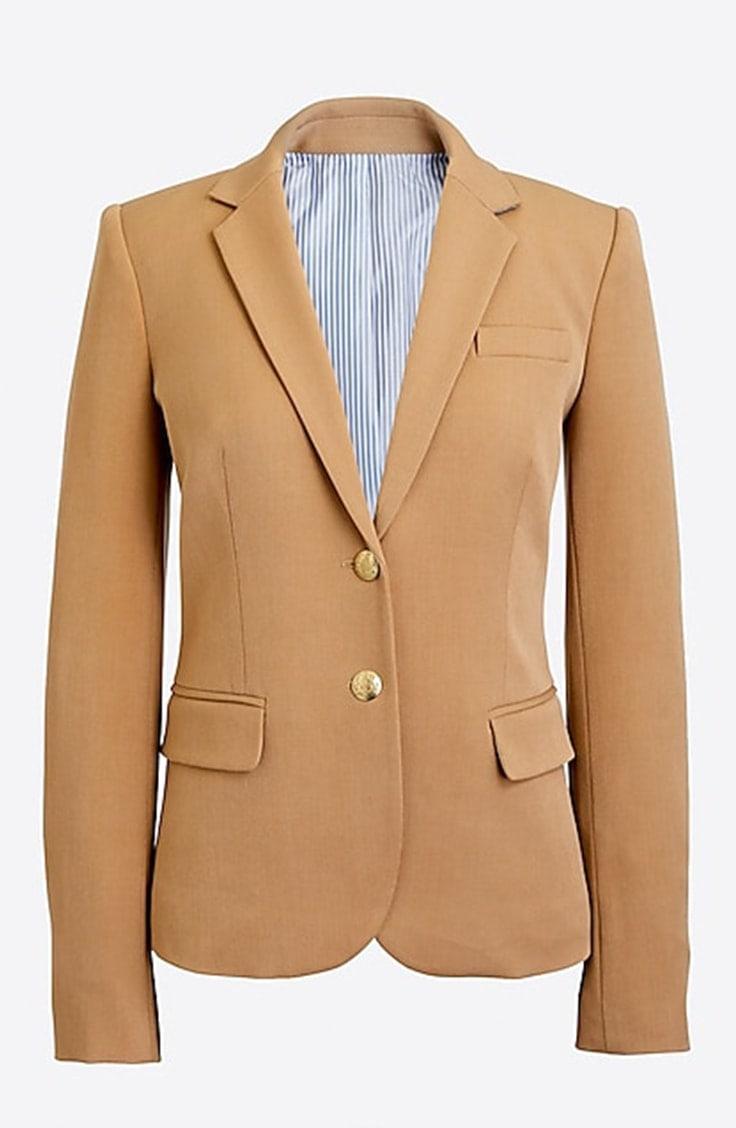 Structured taupe blazer