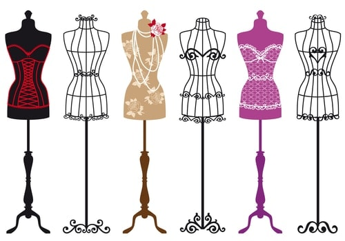 vintage clothing forms
