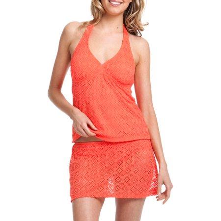 walmart swimsuits - peach crocheted bottom